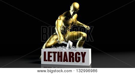 Eliminating Stopping or Reducing Lethargy as a Concept 3d Illustration Render