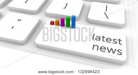 Latest News as a Fast and Easy Website Concept 3D Illustration Render