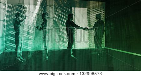 Corporate Governance and Company Affairs Meeting Art 3D Illustration Render