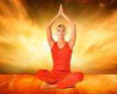 Постер, плакат: Красивая молодая женщина делать упражнения йоги