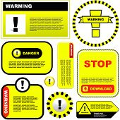 stock photo of ejaculation  - Warning vector label - JPG