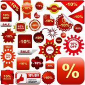 Vector great collection of sale signs