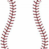 Baseball Lace Background poster