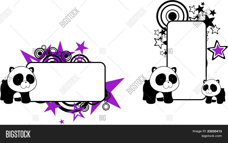 Vector Y Foto Oso Panda Bebé Dibujos Animados