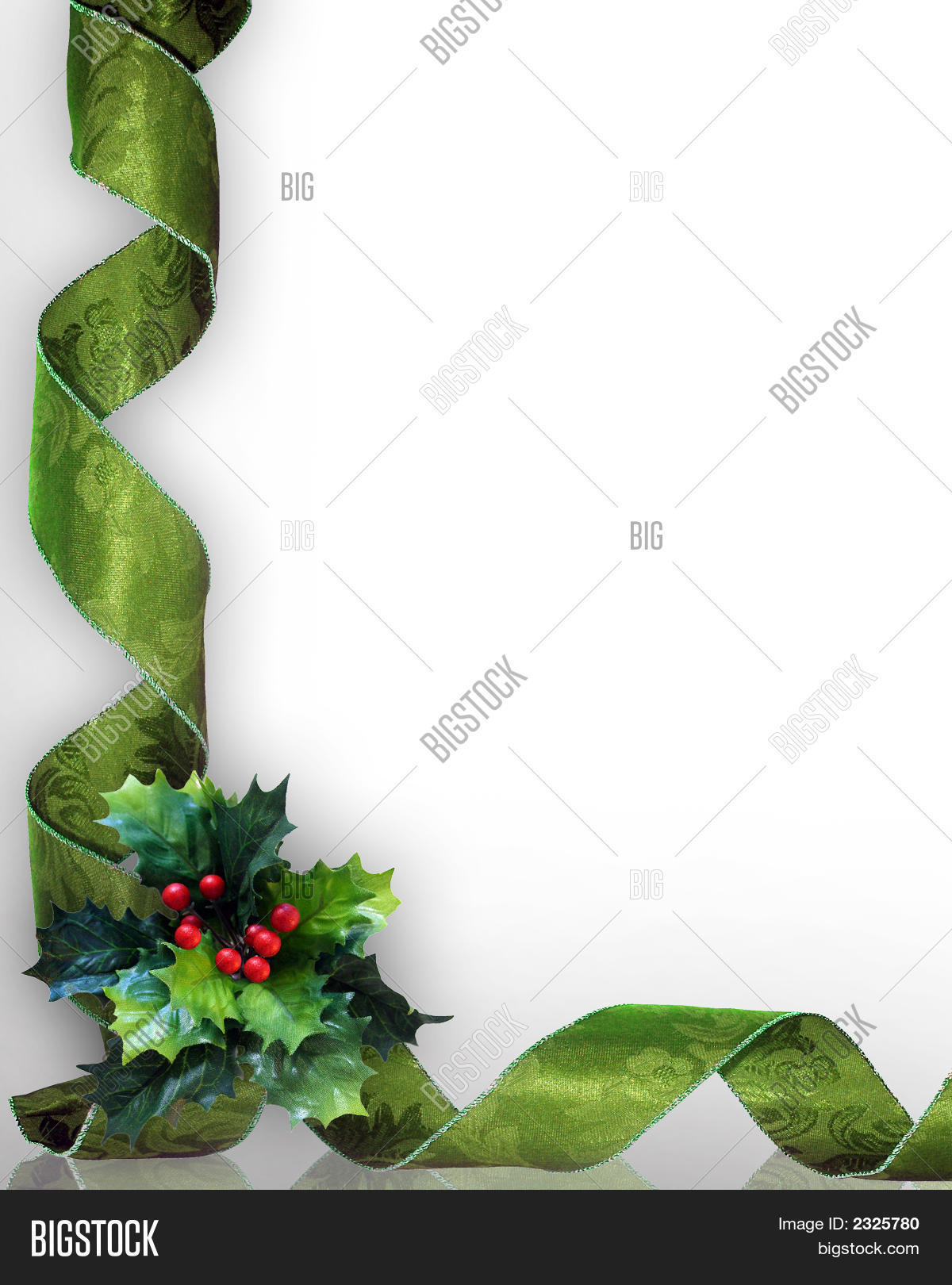 3D Green Damask Ribbon Christmas Image & Photo | Bigstock