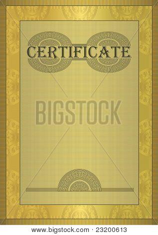 raster Certificate Gold Ornament Frame