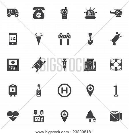 Emergency Vector Icons Set Modern