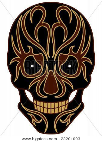 Cranium with tribals