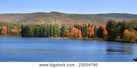 Scenic autumn panorama
