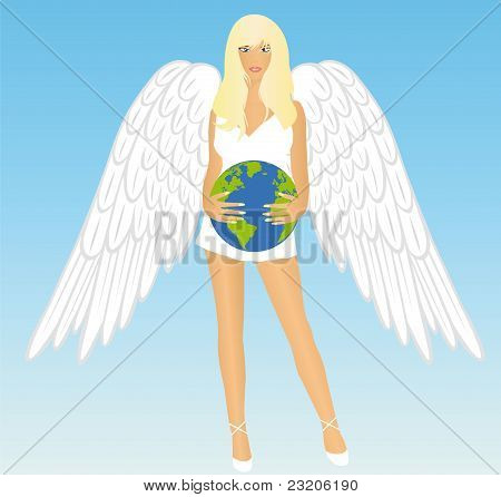 The Girl An Angel With Earth