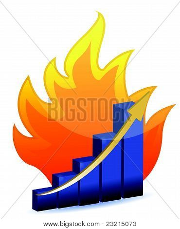Burning the competition chart illustration
