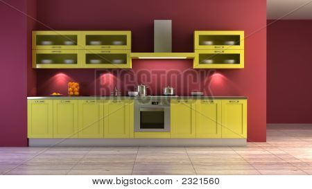 Pop-Art Style Kitchen Interior
