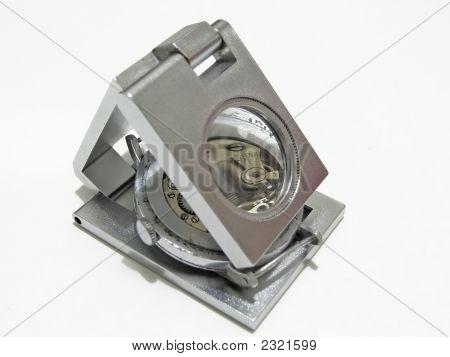 Watch Under Magnifier