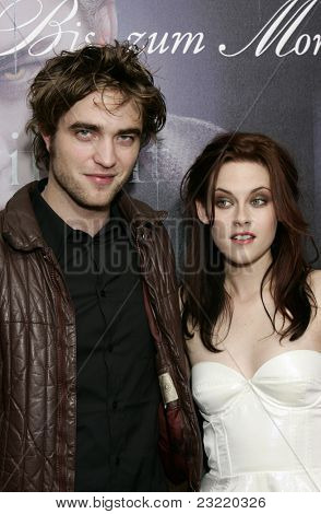 MUNICH, GERMANY - DEC 6: Kristen Stewart; Robert Pattinson at the Twilight - fan event and autographing session on December 6, 2008 in Munich, Germany