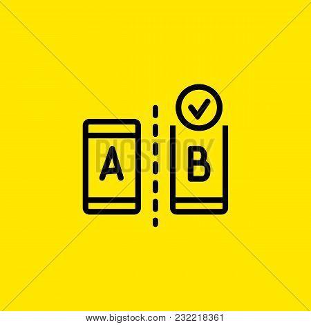 Icon Of Ab Testing Modern