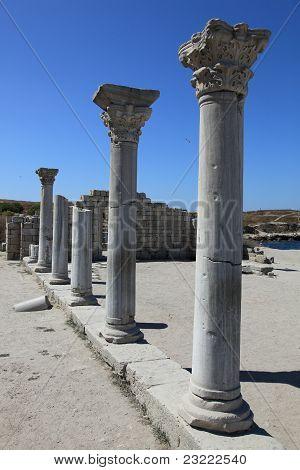 Crimea. Hersones. Greek Pillars