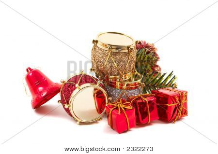 Christmas Decorations, Bright Colored