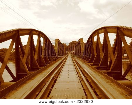 Sepia Of Bridge On The River Kwai