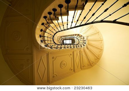 Old and classic stairs