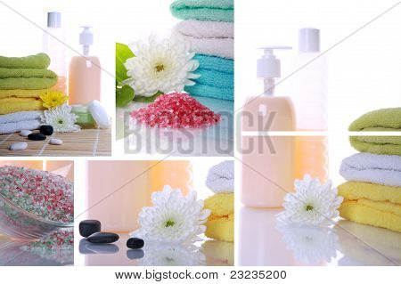 Collage Items For Spa
