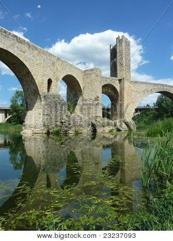 Mediaeval bridge in Besalu, Catalonia