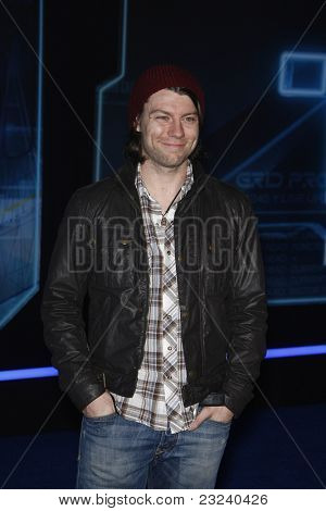LOS ANGELES - DEC 11: Patrick Fugit at the world premiere of 'Tron' held at the El Capitan Theatre in Los Angeles, California on December 11, 2010