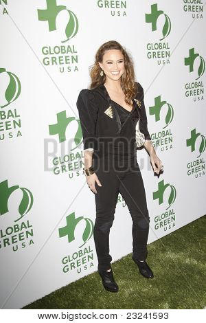 LOS ANGELES - MAR 3: Josie Maran at the Global Green USA 7th Annual Pre-Oscar Party 'Greener Cities for a cooler Planet at Avalon in Los Angeles, California on March 3, 2010