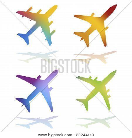 Aviones de Color degradado
