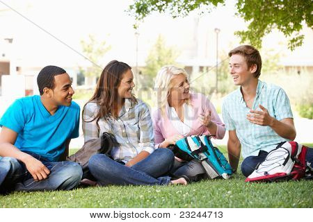 Student group outdoors