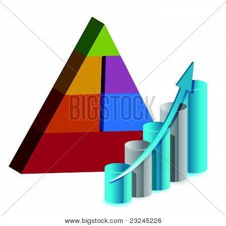 business pyramid chart illustration design