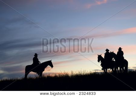 Cowboys At First Light