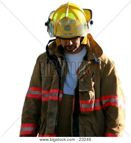 Sadness Upon A Firefighter