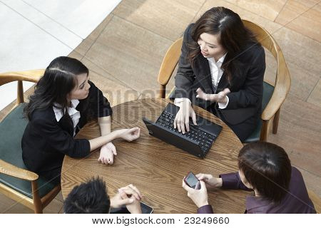 Asian Business People Having A Meeting.