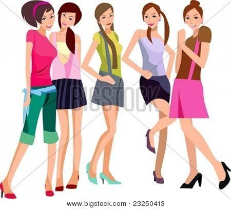 Fünf Mädchen