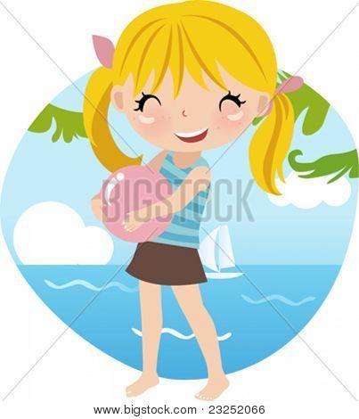 Cute girl at the Beach
