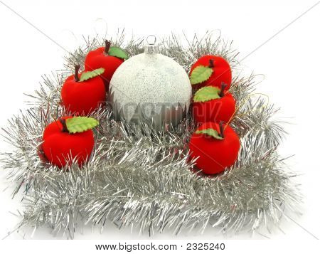 Christmas Bulbs With Apples