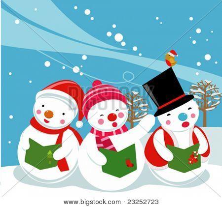 three snowman singer,Carolers