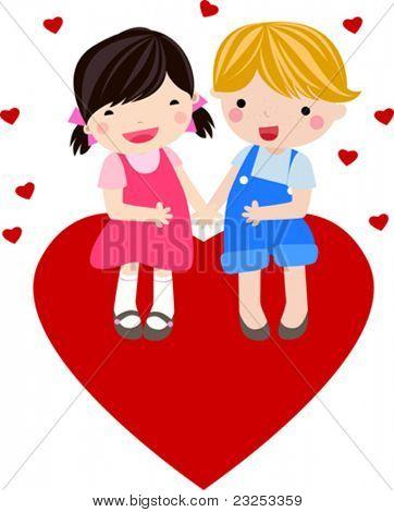 chico y chica se enamoran