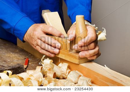 Carpenters with wood