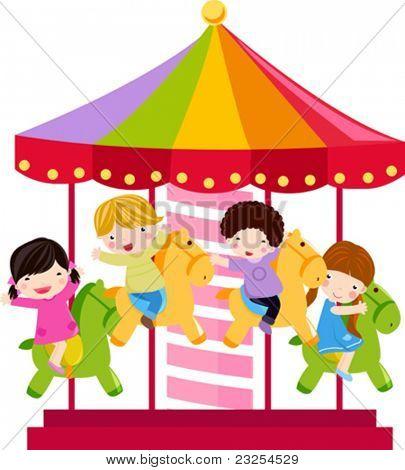 Carrusel y los niños