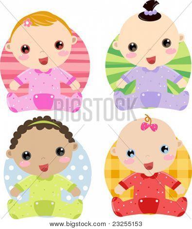 four babies girl