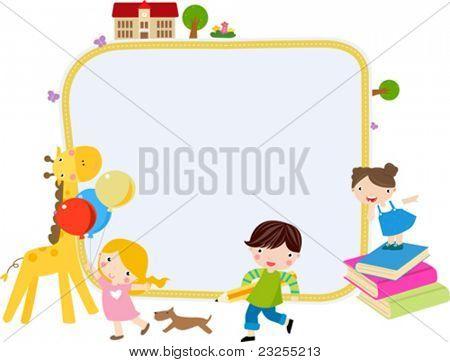 Children and frame