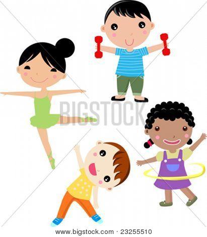 Cuatro niños del deporte