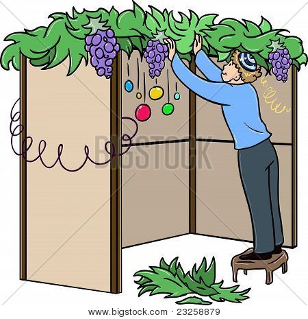 Jewish Guy Builds Sukkah For Sukkot
