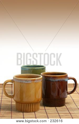 Three Coffee Cups Vertical