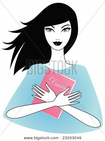 Girl with a diary