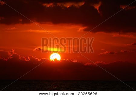 Blood-red Sunset