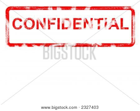 Confidential Grunge Rubber Stamp