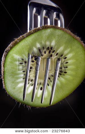 Kiwi On A Fork