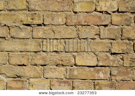 Rough Brick Wall Full Frame
